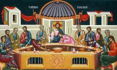 Pictures of Byzantine rhythm on We Heart It Holy Saturday, Greek Easter, Last Supper, Holy Week, Religious Art, Byzantine, Flower Decorations, New Day, Fireworks