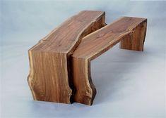 Nesting benches by Bunnett Live Edge Furniture
