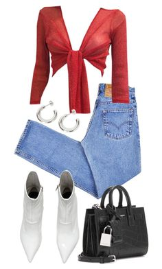 """""""Untitled #22625"""" by florencia95 ❤ liked on Polyvore featuring Levi's and Yves Saint Laurent"""