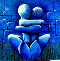 Abrazados Happy Paintings, Beautiful Paintings, African Art Paintings, Lotus Art, Spirited Art, Beginner Painting, Arte Pop, Anime Comics, Amazing Art