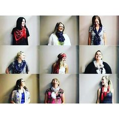 We carry many different scarves for you to wear many different ways at WAR Chest Boutique