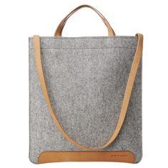 Andie document bag grey | Graf & Lantz | #madeinUSA