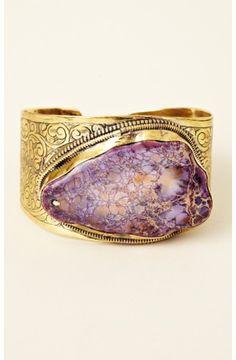 Purple Jasper Cuff