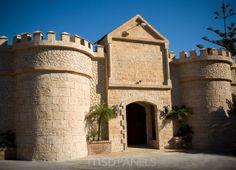 Castle with decorative stone panels