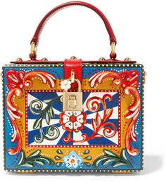 Shop for Dolce Leather-trimmed Painted Wood Clutch - Red by Dolce & Gabbana at ShopStyle. Red Purses, White Purses, Dolce And Gabbana Purses, Wooden Purse, White Clutch, White Handbag, Small Bags, Leather Purses, Leather Bags
