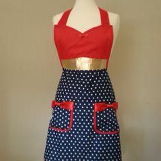 Wonder Woman inspired apron on Etsy