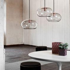 Frandsen New Kobe Pendel Smoke Glass Kobber | Designbelysning.no