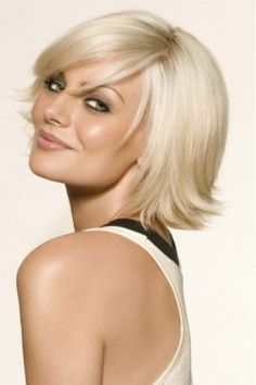 Beautiful bob hairstyle with flipped up ends    if i had straight hair i would get this cut ;)