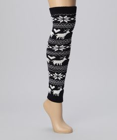 Take a look at this Navy & White Nordic Leg Warmers - Women on zulily today!
