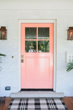I am changing my front door color! I gravitate towards blues but just to be sure I found 15 farmhouse front door favorites to inspire this creative process. Front Door Paint Colors, Painted Front Doors, Beautiful Front Doors, Unique Front Doors, The Doors, Entry Doors, Entryway, Farmhouse Front, City Farmhouse