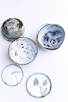 Rustic enamel bowls and plates