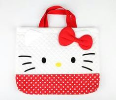 Hello Kitty face tote