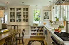 Kitchen Transformation - traditional - Kitchen - Burlington - Smith & Vansant Architects PC - love that country home feel. Kitchen Inspirations, Farmhouse Kitchen Design, Kitchen Style, Rustic Kitchen Design, Kitchen Styling, Home Kitchens, Traditional Kitchen, Kitchen Design, Kitchen Remodel