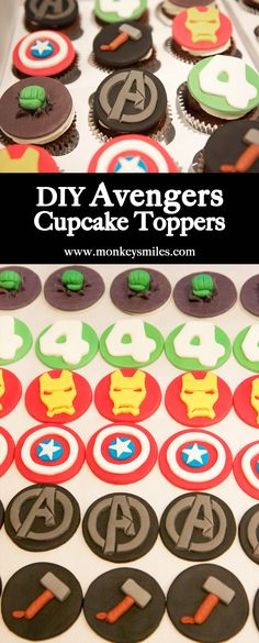 DIY Avengers Birthday Cupcake Toppers