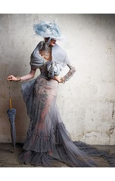 designed by John Galliano 2005/2006 Dior Haute Couture Vogue Russia June 2011 Photo Patrick Demarchelier