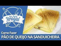 Ana Maria Brogui #226 - Como fazer Pão de queijo na sanduicheira rechead... Pai, Smile, Pizzas, Bacon, Youtube, Breads, Bricolage, Illustrated Recipe, Pull Apart Cheese Bread