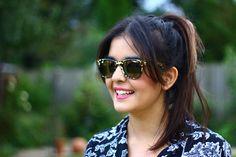 Natalie Hughes wearing her Carrera by Jimmy Choo sunglasses
