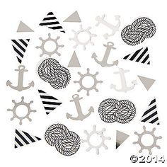 Anchor & Pennant Confetti - a fun inclusion for nautical/crusie/beach wedding welcome bags