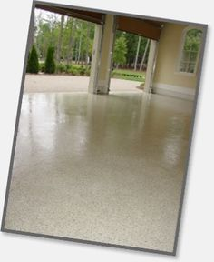 Liquid Granite Floor for the Garage