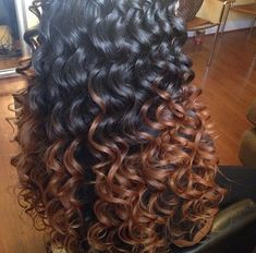 I'm in love (curling wand hair black)