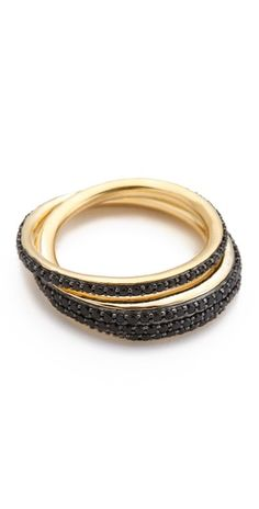 TOM BINNS Bejeweled Saturn Ring