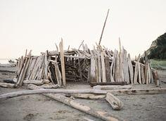peaceful seaside wedding inspiration - driftwood beach fort