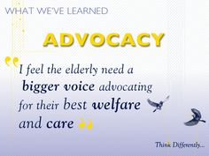 Advocates for the best welfare and care. #hospicelessons