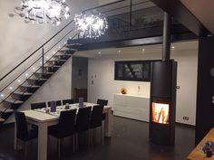 Stûv 30-H Wood Burning Fires, River House, Conference Room, Loft, Living Room, Bed, Furniture, Home Decor, Decoration Home