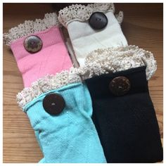 1 PAIR KNEE HIGH BOOT SOCKS WITH LACE AND BUTTONS 1 PAIR KNEE HIGH BOOT SOCKS WITH LACE AND BUTTONS, SUPER CUTE WITH 1 WOODEN BUTTON COMES IN BLACK, BLUE, BEIGE AND PICK SPECIFY COLOR AFTER PURCHASING THANK YOU Accessories Hosiery & Socks