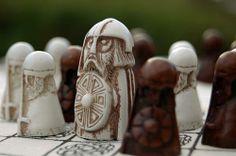 Bespoke pieces from a modern reconstruction of a Viking era tafl game. Love it…