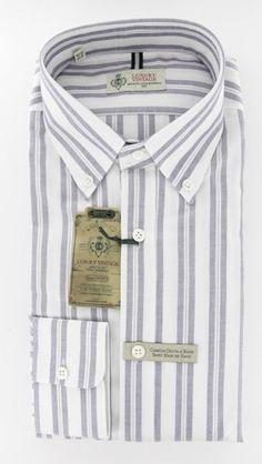 New Luigi Borrelli Navy Blue Shirt 15/38 Made In:. Fabric Type:. Retail Price: $375.00.  #LuigiBorrelli #Apparel