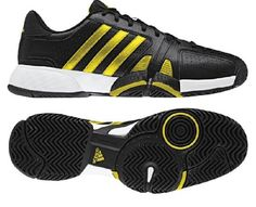 Adidas Bercuda 2.0 Tennis Shoe Running - Black/Vivid Yellow/Running White (Men) - http://www.closeoutracquets.com/tennis-racquets/tennis-shoes-free-shipping-court-shoes/adidas-bercuda-2-0-tennis-shoe-running-blackvivid-yellowrunning-white-men/