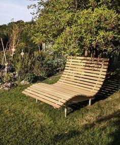 Garden Furniture, Outdoor Furniture, Outdoor Decor, Small Garden Landscape Design, Garden Loungers, Veneer Plywood, Garden Office, Sun Lounger, Couch