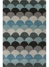 Arc Rug in Light Turquoise