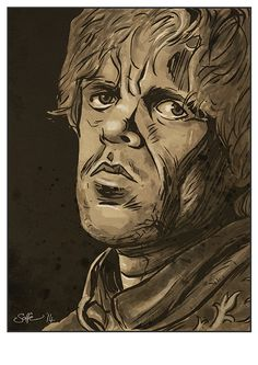 Game of Thrones Tyrion Lannister art print by Mygrimmbrother
