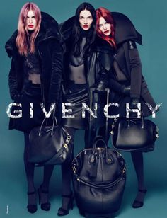 Malgosia Bela, Mariacarla Boscono, & Catherine McNeil by Mert & Marcus for Givenchy, Fall/Winter 2010