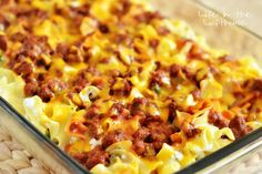 Sour Cream Noodle Bake Recipe ~ This pasta bake is simple to throw together and totally yummy!