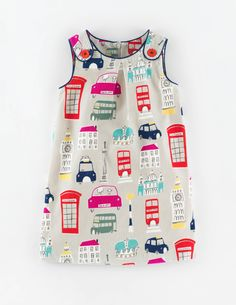 Mini Boden Button Pinafore Dress. #BacktoSchool