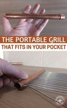 The Portable Grill that Fits in Your Pocket — An easy to set up, portable cooking device is valuable in so many situations: hiking trips, camping, and especially survival situations where we won't have access to our normal conveniences. #camping #diy #portablegrill #frugal #lifehacks