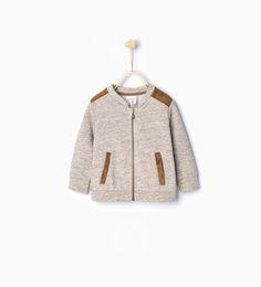 Sweatshirt with shoulder detail-Coats-Baby boy | 3 months - 3 years-KIDS | ZARA United States
