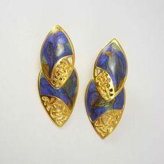 Vintage Lavender Purple Earrings Hinged by NeatstuffAntiques, $15.00