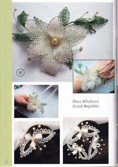 Álbumes web de Picasa Needle Tatting, Needle Lace, Bobbin Lace Patterns, Knitting Patterns, Lace Flowers, Crochet Flowers, Bobbin Lacemaking, Types Of Lace, Lace Jewelry