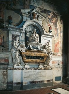 Galileo in St Croce, Florence Italy | Galileo Galilei's tomb. Basilica of Santa Croce, Florence. Italy. 18th ...