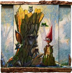 Buy PINOCCHIO, THE TALKING TREE AND THE TINY OWLS - ( framed, 3D effect, TRIPTYCH ), Mixed Media painting by Carlo Salomoni on Artfinder. Discover thousands of other original paintings, prints, sculptures and photography from independent artists.