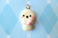 Kawaii Snowman Charm Polymer Clay Christmas Charm by JollyCharms, $6.00