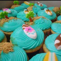 Beach Cupcakes