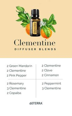 Diffuse Clementine essential oil to encourage a light, pleasant atmosphere in your home. Essential Oils For Headaches, Essential Oil Diffuser Blends, Best Essential Oils, Essential Oil Uses, Clementine Oil, Reiki, Fittness, Diffuser Recipes, Essential Oil Blends