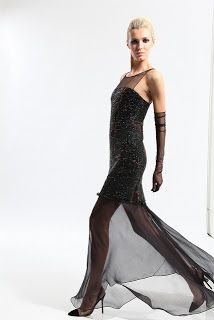 Chado Ralph Rucci sheer dress. Visit www.lifeandstyleonadime.com for Fall trends. Image stilletto bootlover_83