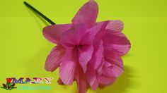 Mary Creative - Origami flower # 23| How to make Pom Pom flower | Tissue...