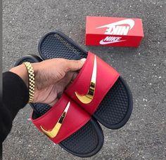 best loved 95a28 378d7 Ironman Nike Benassi Swoosh Golden Check Slides Size up one for men Down o  - Nike Benassi - Latest   trending Nike Benassi - Ironman Nike Benassi  Swoosh ...